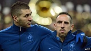 Karim Benzema y Franck Ribéry