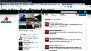Página de Twitter de Pemex