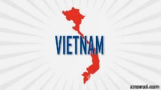 Peta Vietnam di video promo Arsenal