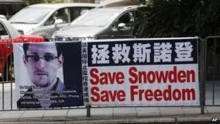 Hình ảnh Edward Snowden ở Hong Kong