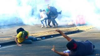 Manifestantes no Rio de Janeiro, dia 16 de junho   Foto: AFP