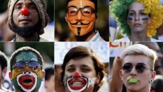 Montagem com jovens que participaram de protestos no Recife Fotos REUTERS/Marcos Brindicci