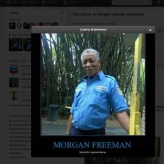 Toma de la pantalla de Twitter con las imágenes de Ramón Blanco, el venezolano que se parece a Morgan Freeman.