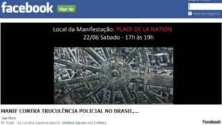 Reprodução de página do Facebook que convoca para protestos (crédito: Facebook)