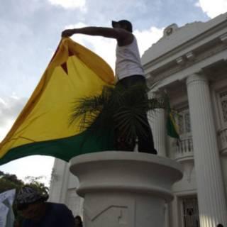Manifestante em Rio Branco (Fábio Pontes - BBC Brasil)