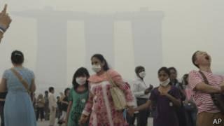 smog problem in singapore, ap