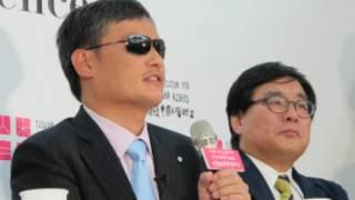 陈光诚在台召开国际记者会