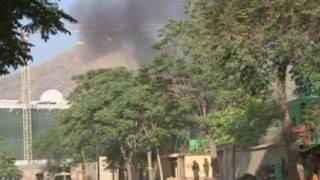Дым над президентским дворцом