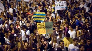 Manifestantes no Rio | Foto: AP
