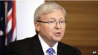 Kevin Rudd, primer ministro de Australia