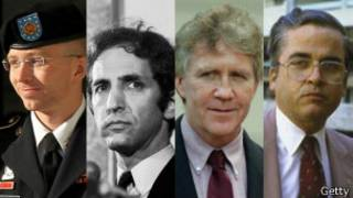 Bradley Manning, Daniel Ellsberg, Lawrence Franklin y Samuel Morison