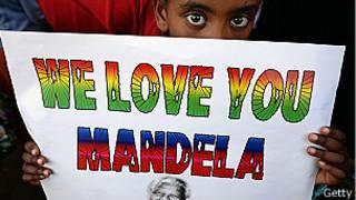 لافتة عن مانديلا