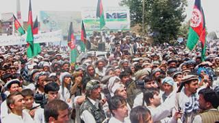 راهپیمایی در تخار