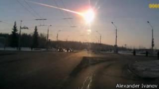 Asteroide a su paso por la atmósfera terrestre