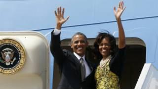 Prezida Obama na Michelle