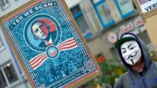 Biểu tình phản đối Mỹ nghe lén châu Âu ở Hanover