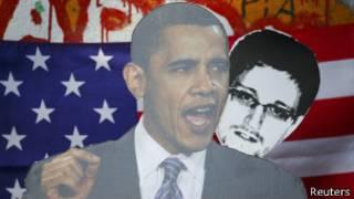 Маски Обамы и Сноудена