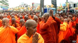 Monks' protest in Maharagama