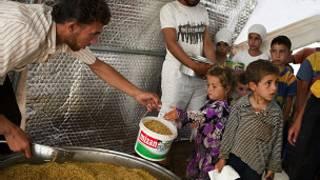 اللاجئين السوريين النازحين