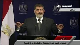 Morsi phát biểu trên truyền hình