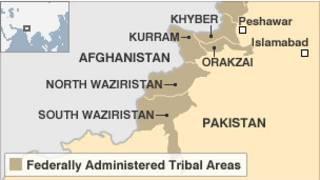 Bản đồ khu vực Waziristan