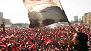Protesto no Egito (Foto Reuters)
