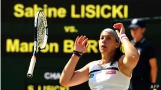 Marion Bartoli al ganar Wimbledon
