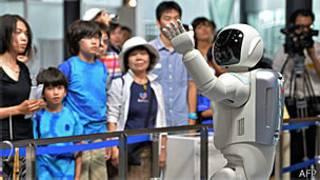 Robô Asimo no museu em Tóquio (AFP/Getty)
