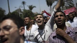 Người biểu tình ủng hộ Tổng thống Morsi