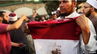 Manifestante no Egito
