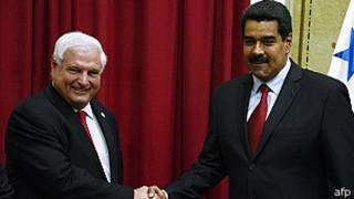 Ricardo Martinelli y Nicolás Maduro