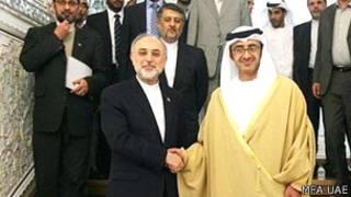 صالحی و وزیر خارجه امارات