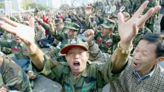 Cựu chiến binh Nam Hàn biểu tình đòi bồi thường vì tác nhân cam
