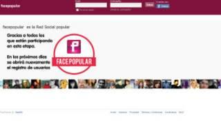 página inicial do Facepopular (BBC)
