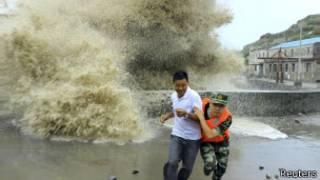Тайфун приближается