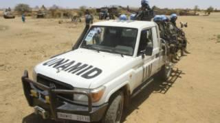 عناصر من القوات الدولية والافريقية في دارفور