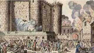 a queda da Bastilha, em 1789 (foto:Getty)