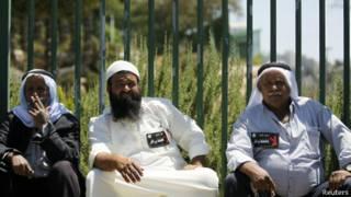 بدو محتجون على خطة برافر أمام الكنيست الإسرائيلي