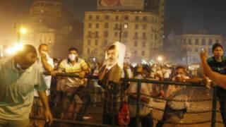 Magoya bayan Morsi a lokacin arangama da sojoji