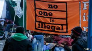 Акция протеста в Мюнхене