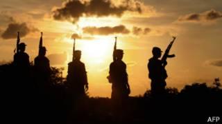 Sri Lankan soldiers, AFP
