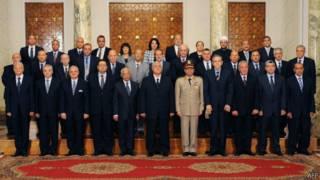 مجلس الوزراء المؤقت الجديد في مصر