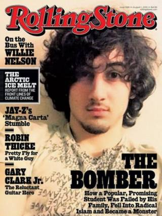 最新一期的滚石杂志封面