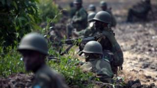 Soldados en R.D. del Congo