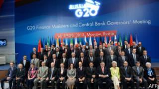 Участники саммита G20 в Москве, 19-20 июля 2013 г.