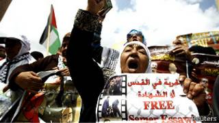 Marchas para exigir la liberación de presos palestinos
