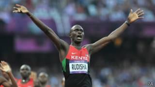 العداء الكيني ديفيد روديشا
