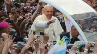 Le Pape Francis accueilli à Rio