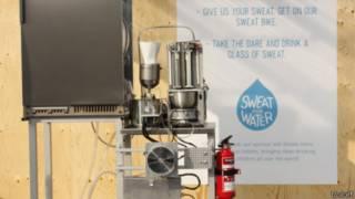 Máquina convierte sudor en agua