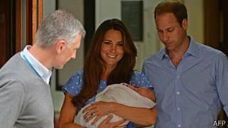 Kate Middleton segura seu filho George
